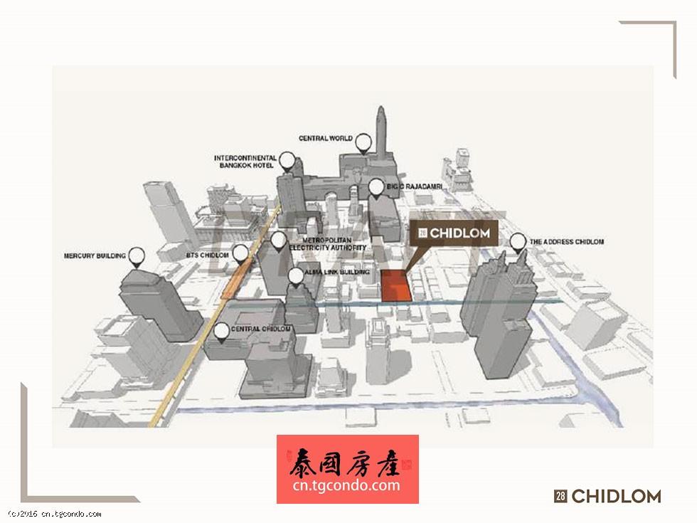 28 Chidlom泰国曼谷顶级地段豪宅楼盘by SC Asset