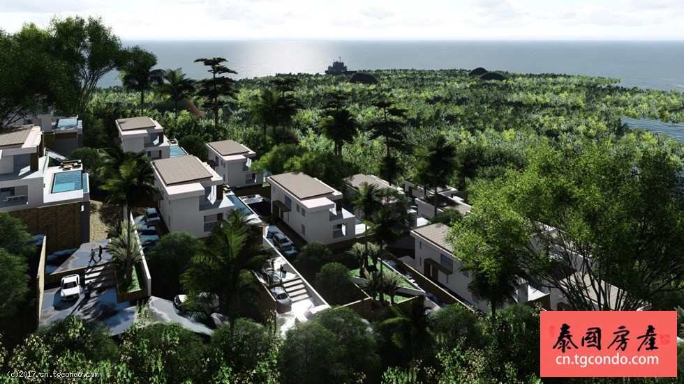 泰国苏梅岛法式私人泳池海景别墅 Naori Residence