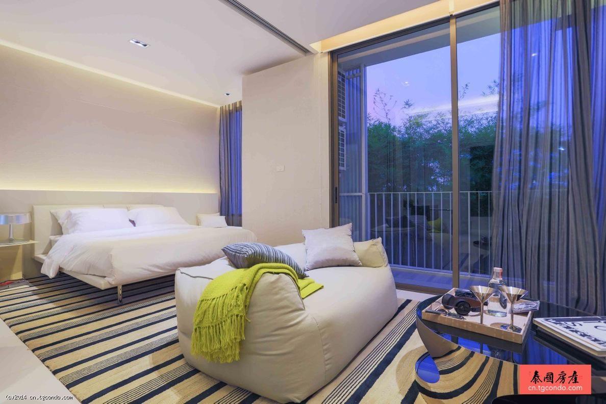 泰国曼谷大使馆区Nara 9豪华公寓2房