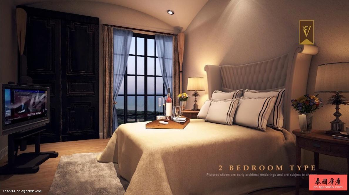 泰国芭提雅威尼斯人50平1卧度假公寓Venetian